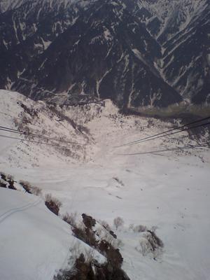 立山ロープウェイからの眺め