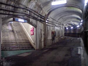黒部ダムトンネル内